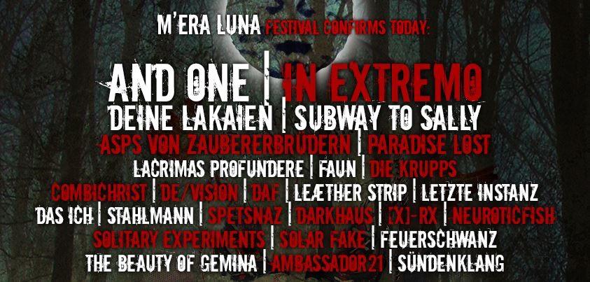 Das Line Up des Mera Luna's 2014