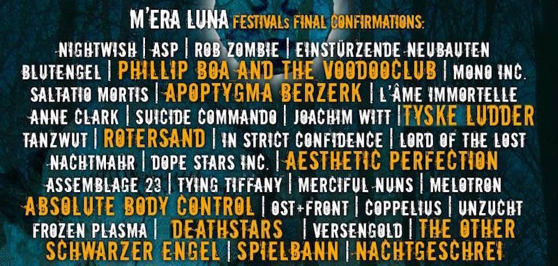 Mera Luna 2015 Line-up